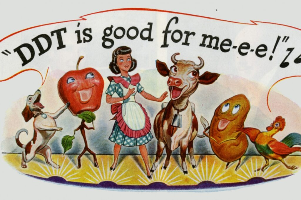 an advert for DDT saying 'its good for me'
